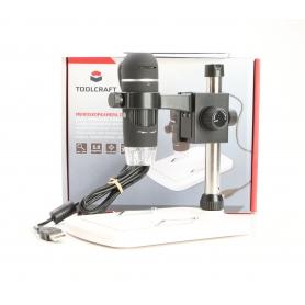 Toolcraft TO-5139594 USB-Mikroskop Digital-Mikroskop 5MP Vergrößerung 150x schwarz (231336)