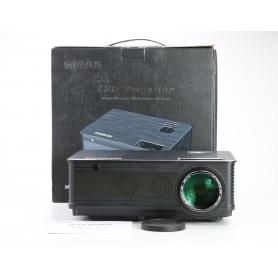 Wimius P18 Beamer Projektor LED 5000 Lumen 4000:1 FHD HDMI VGA AV USB schwarz (231355)