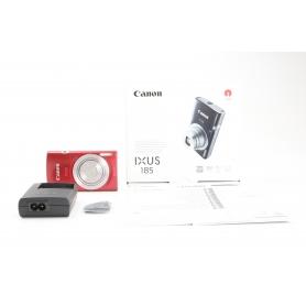 Canon IXUS 185 digitale Kompaktkamera 20MP 5-40mm 2,7 LCD-Display HD USB rot (231643)