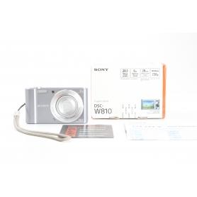 Sony Cyber-Shot DSC-W810 B digitale Kompaktkamera 20,1MP 26-153mm Objektiv 2,7 Display HD schwarz (231646)