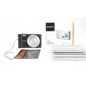 Sony Cyber-Shot DSC-W810 B digitale Kompaktkamera 20,1MP 26-153mm Objektiv 2,7 Display HD schwarz (231676)