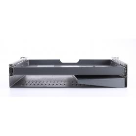Renkforce RF-3429156 19 Netzwerkschrank-Schublade 2HE ausziehbar für Schranktiefe ab 500mm schwarz (231680)