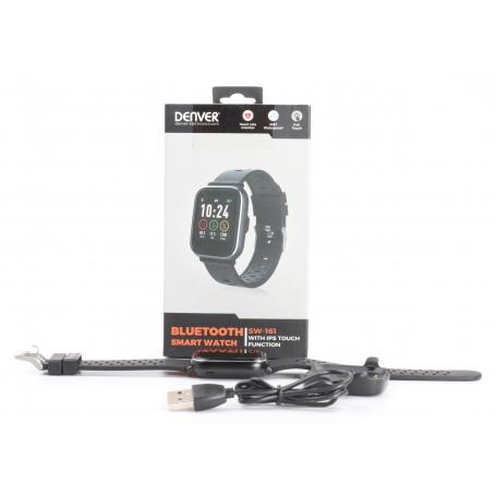 Denver SW-161 Smartwatch Fitness-Uhr Sportuhr Multi-Sport Herzfrequenz schwarz (232194)