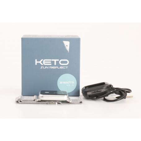 Xlyne X-Watch Keto Sun Reflect Smartwatch Fitness-Uhr Sportuhr Pulsmesser wasserdicht silber (232196)