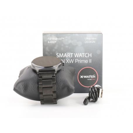 X-WATCH Qin II Smartwatch Fitness-Uhr Sportuhr Schrittzähler Pulsuhr schwarz (232205)