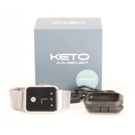 Xlyne X-Watch Keto Sun Reflect Smartwatch Fitness-Uhr Sportuhr Pulsmesser wasserdicht silber (232206)