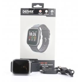 Denver SW-161 Smartwatch Fitness-Uhr Sportuhr Multi-Sport Herzfrequenz schwarz (232303)