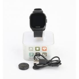X-WATCH Ive XW Fit Smartwatch Fitness-Uhr Sportuhr Pulsmesser Herzfrequenz schwarz (232323)