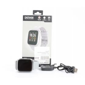 Denver SW-161 Smartwatch Fitness-Uhr Sportuhr Multi-Sport Herzfrequenzzonen Puls grau (232308)