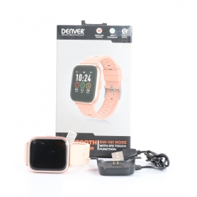 Denver SW-161 Smartwatch Fitness-Uhr Sportuhr Multi-Sport Pulsmesser Bluetooth rose (232312)