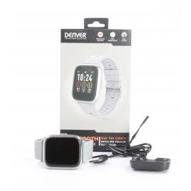 Denver SW-161 Smartwatch Fitness-Uhr Sportuhr Multi-Sport Herzfrequenzzonen Puls grau (232314)