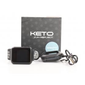 X-Watch Keto Sun Reflect Smartwatch Fitness-Uhr Sportuhr Pulssensor Triathlon Marathon schwarz (232327)