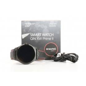Xlyne X-Watch Qin XW Prime II 54016 Smartwatch Fitness-Uhr Sportuhr Bluetooth rot schwarz (232328)