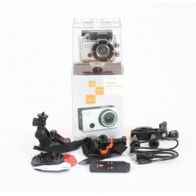 Denver AC-5000 W Action Cam Webcam 5MP FHD Micro USB Mini HDMI wasserfest stoßfest silber schwarz (232339)