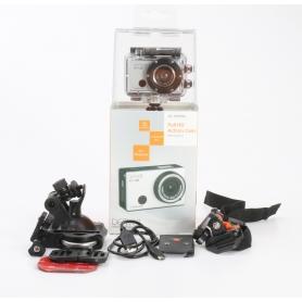 Denver AC-5000 W Action Cam Webcam 5MP FHD Micro USB Mini HDMI wasserfest stoßfest silber schwarz (232340)