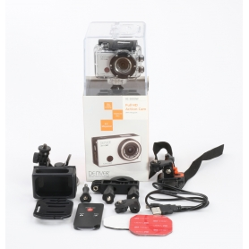 Denver AC-5000 W Action Cam Webcam 5MP FHD Micro USB Mini HDMI wasserfest stoßfest silber schwarz (232342)