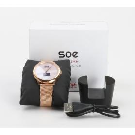 Xlyne X-Watch Soe XW Pure Smartwatch Fitness-Uhr Sportuhr wasserdicht Bluetooth rosegold (232346)