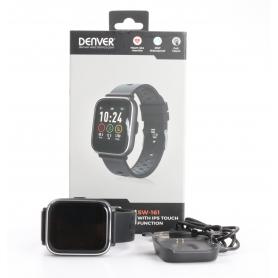 Denver SW-161 Smartwatch Fitness-Uhr Sportuhr Multi-Sport Herzfrequenz schwarz (232309)
