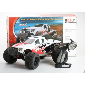 Reely NEW1 Brushless 1:10 RC Modellauto Elektro Monstertruck Allradantrieb RtR 2,4GHz (232738)