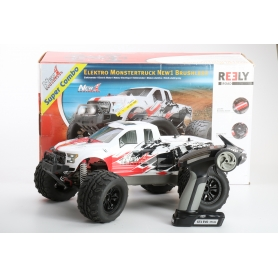 Reely NEW1 Brushless 1:10 RC Modellauto Elektro Monstertruck Allradantrieb RtR 2,4GHz (232742)