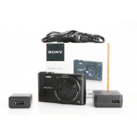 Sony Cyber-Shot DSC-WX350B digitale Kompaktkamera 18,2MP 4,3-86mm 3 LCD-Display FHD CMOS WiFi schwarz (232765)