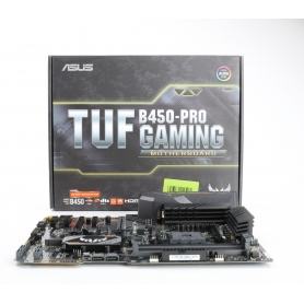asus TUF B450-Pro Mainboard Gaming Sockel AM4 ATX AMD B450 DDR4-Speicher duale M.2 native Gen2 Aura Sync USB 3.1 (232783)