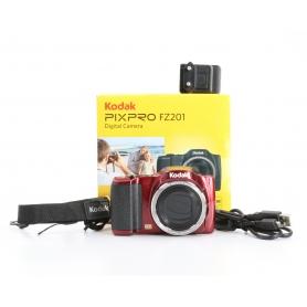 Kodak PIXPRO FZ201 digitale Kompaktkamera 16MP 4,5-90mm Bildstabilisator HD CCD USB rot (233002)