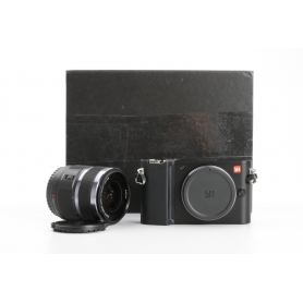 YI M1 95017 spiegellose Systemkamera 20MP 12-40mm F3,5-5,6 Wechselobjektiv 3 LCD-Display 4K schwarz (233005)