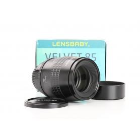 Lensbaby Velvet 85 f/1.8 85mm Tele-Objektiv für Sony E Objektivbajonett Festbrennweite schwarz (233033)