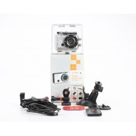 Denver AC-5000 W Action Cam Webcam 5MP FHD Micro USB Mini HDMI wasserfest stoßfest silber schwarz (234166)