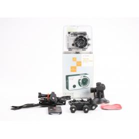 Denver AC-5000 W Action Cam Webcam 5MP FHD Micro USB Mini HDMI wasserfest stoßfest silber schwarz (234241)