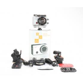 Denver AC-5000 W Action Cam Webcam 5MP FHD Micro USB Mini HDMI wasserfest stoßfest silber schwarz (234151)
