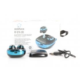 Renkforce RF-BTK200 Bluetooth In Ear Kopfhörer True Wireless Mikrofon blau schwarz (234155)
