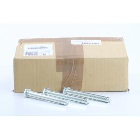 Toolcraft 100 Stück 127224 Sechskantschrauben M12 120mm Außensechskant DIN 933 Stahl galvanisch verzinkt (234577)