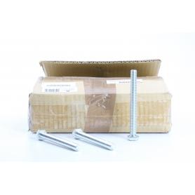 Toolcraft 100 Stück 127224 Sechskantschrauben M12 120mm Außensechskant DIN 933 Stahl galvanisch verzinkt (234578)