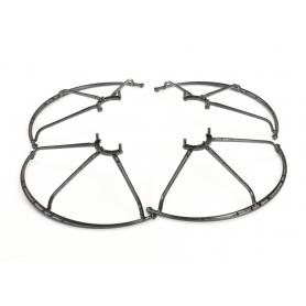reely 4 Stück Reely F-7 Multicopter-Propellerschutz Stoßdämpfer für Quadrocopter Reely Blackster R7 FPV WiFi schwarz (234582)