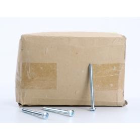 Toolcraft 250 Stück 147679 Linsenblechschrauben Schrauben Kreuzschlitz Pozidriv 6,3x80mm silber (234571)