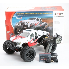 Reely NEW1 Brushless 1:10 RC Modellauto Elektro Monstertruck Allradantrieb RtR 2,4GHz (235015)