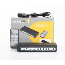 SpeaKa Professional 3 Port HDMI-Switch 3D Wiedergabe Fernbedienung 3840x2160 Pixel schwarz (235222)