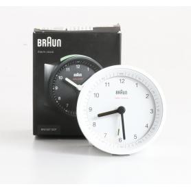 Braun BNC007 Funkwecker Alarm-Wecker analog Quarz weiß (235474)