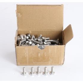 TOOLCRAFT 200 Stück TO-5367654 Sechskantschrauben M6 16mm Außensechskant ISO 4017 Edelstahl A4 (235475)