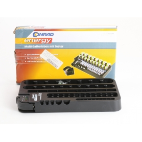 Conrad 1509163 Batterietester Akku Multi Tester Box Batteriebox 72x Micro schwarz (235489)