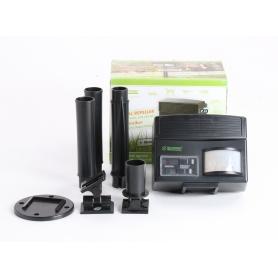 Isotronic 60035 Tiervertreiber Multifrequenz Wirkungsbereich 100m² 6V Ultraschall pestizidfrei Animal Repellent (235518)