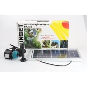 Sunset SPS700 Solar-Springbrunnenset Hochleistungspumpe Solarmodul 720l/h schwarz (235520)
