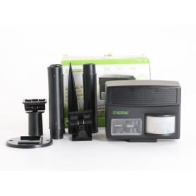 Isotronic 60035 Tiervertreiber Multifrequenz Wirkungsbereich 100m² 6V Ultraschall pestizidfrei Animal Repellent (235491)