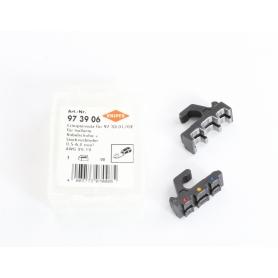 Knipex 97 39 06 Crimpeinsatz für isolierte Kabelschuhe Steckverbinder Stoßverbinder (235514)