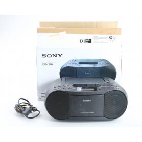 Sony CFD-S70B UKW-CD-Radiorecorder MW AUX Kassettenrekorder Aufnahmefunktion MP3 schwarz (236199)