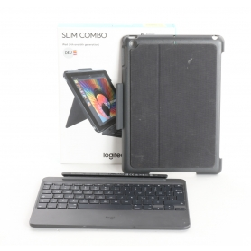 Logitech Slim Combo Tablet-Tastatur Book-Cover Case Apple iPad 9.7 schwarz (236269)