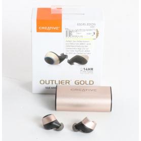 Creative Outlier In Ear Kopfhörer Headset True Wireless Bluetooth kabellos gold (236281)