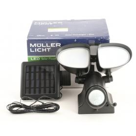 Müller Licht 21000028 Solar-Spot Bewegungsmelder 6 Watt Tageslicht-Weiß schwarz (236289)
